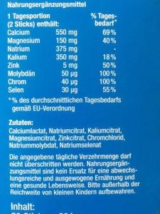 Basica Basenpulver Vital pur Inhaltsstoffe